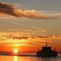 De veerboot van Ameland